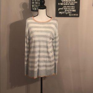 Gray /White Sweater